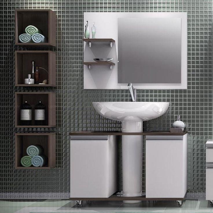 94 best images about Banheiros pequenos e decorados on Pinterest  Madeira, U -> Cuba Para Banheiro Pequena