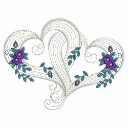 Rippled Floral Hearts 7 - 3 Sizes! | Floral - Flowers | Machine Embroidery Designs | SWAKembroidery.com