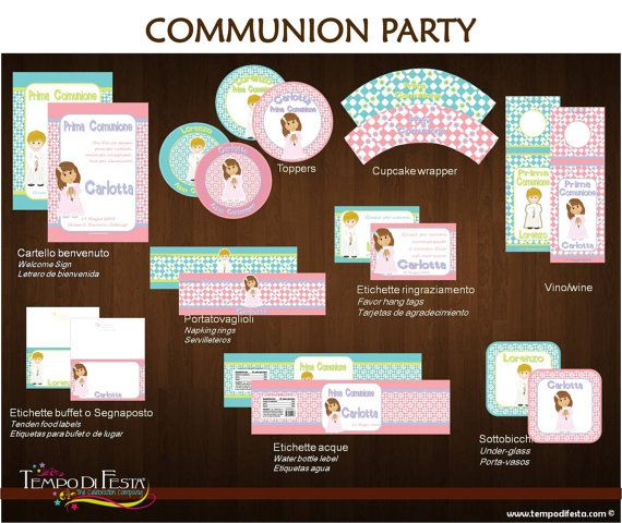 first communion  Printable Party