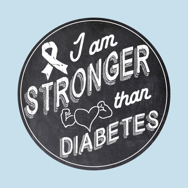 Check out this awesome 'Stronger+than+diabetes+-+diabetics+awareness+strength+t1d+type...' design on @TeePublic!