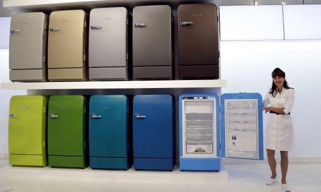 Retro refrigerator Bosch brings color to the kitchen
