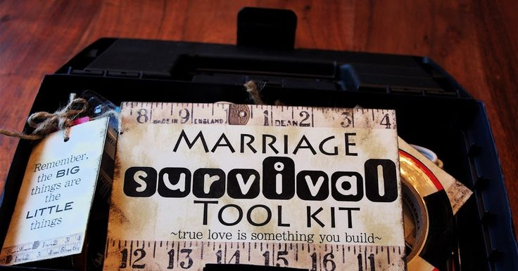 I had a lot of fun putting this Marriage Survival Tool Kit together. This was for a wedding gift but the idea could be used for an...