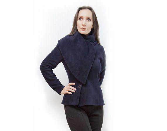 jacketdark blue jacketnavy blue jacketlong by AnnaPerena on Etsy, $105.00