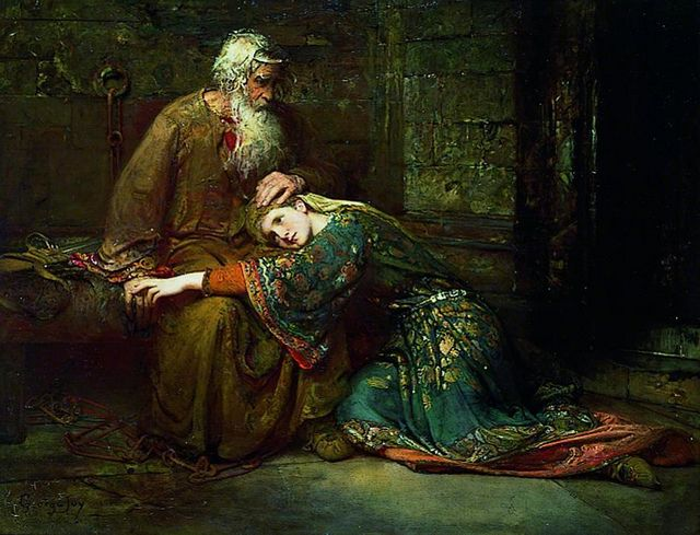 the role of cordelia in king Lear stumbles onto the stage with his daughter cordelia dead in his  likely a  reference to the actor's double role as cordelia and the fool.