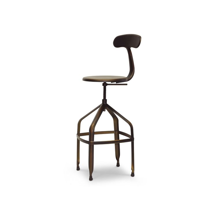 Baxton Studio Architects Industrial Bar Stool Other Clrs