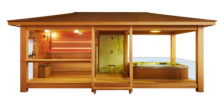 EO-SPA Sauna LT06 rote Zeder/650x350/9kW Vitra