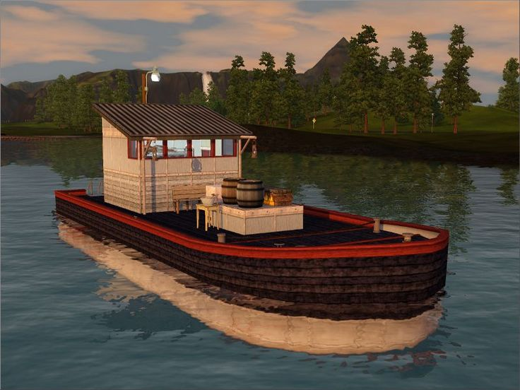 M/S Hans the Houseboat - sims love fishing!