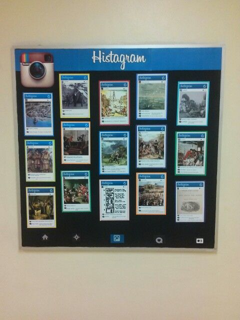 Histagrams - instagrams about historic events or items                                                                                                                                                     More