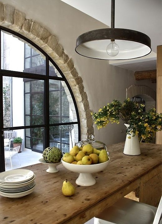 461 best images about european farm tables on pinterest antiques french farmhouse and dining - Country kitchen windows ...