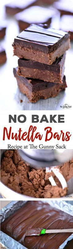 This No Bake Nutella Bars recipe is so easy to make. The texture of these bars is similar to peanut butter cups and everyone loved them!