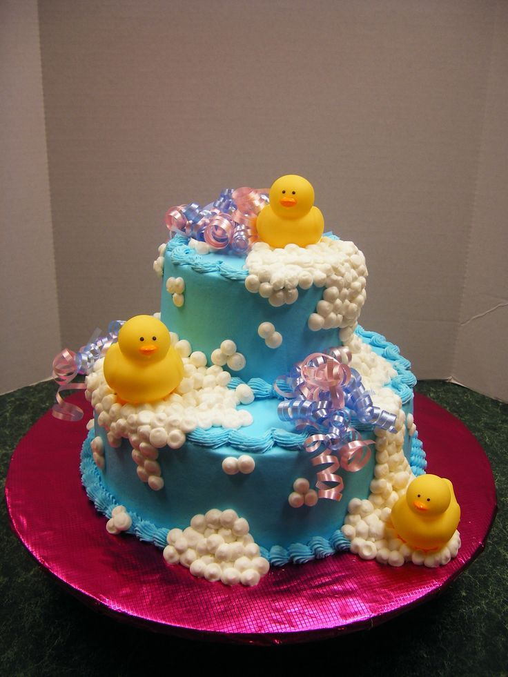 Rubber Duck Cake for Avery's birthday...