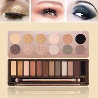 Las mejores paletas de sombras de ojos paleta de sombra de Calidad Nueva 3 Tipo de ojos de 12 colores NK1,2,3 maquillaje con pinceles Dropshipping B26 nake 20096