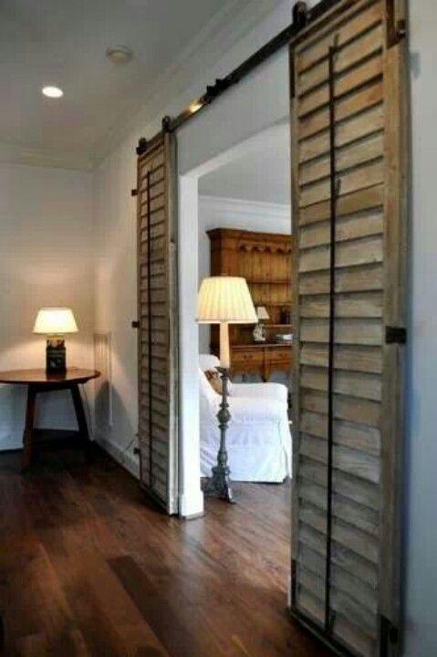Sliding shutters as doors