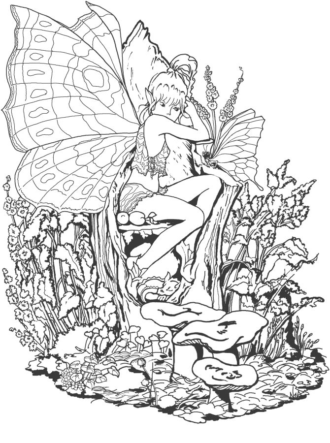 Links To Several Printable Coloring Pages For Grown Ups Including Fairies Unicorns