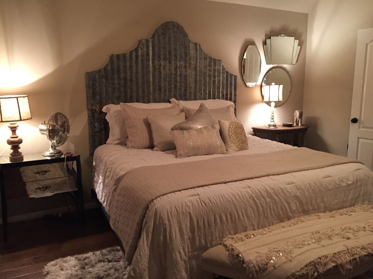 Corrugated metal headboard | Why isn't this my profession ...