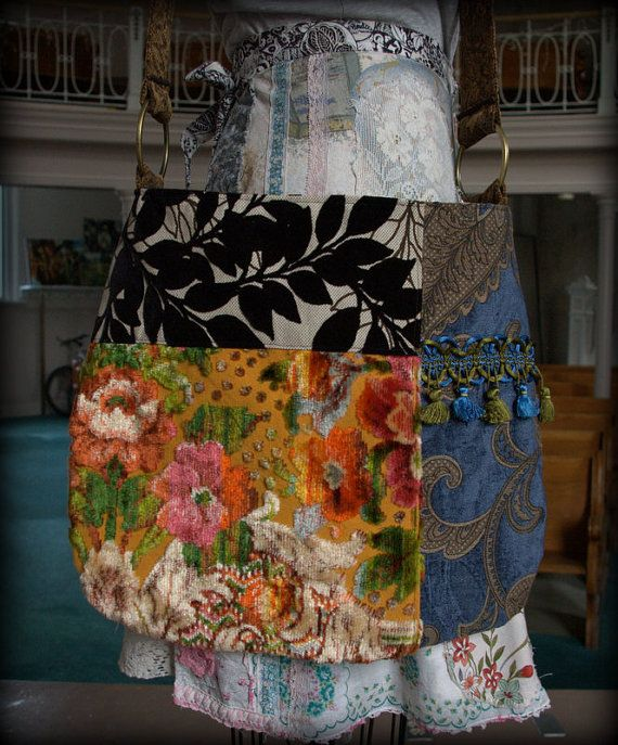 Vintage Velvet Bohemian Gypsy Bag
