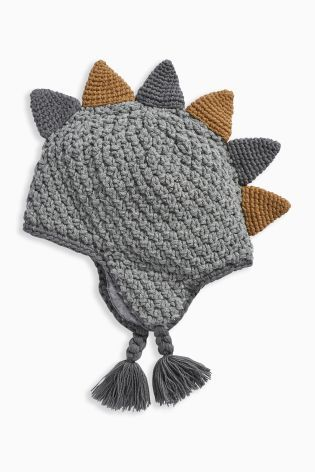 Buy Grey Knit Trapper Hat (0-18mths) online today at Next: United States of America