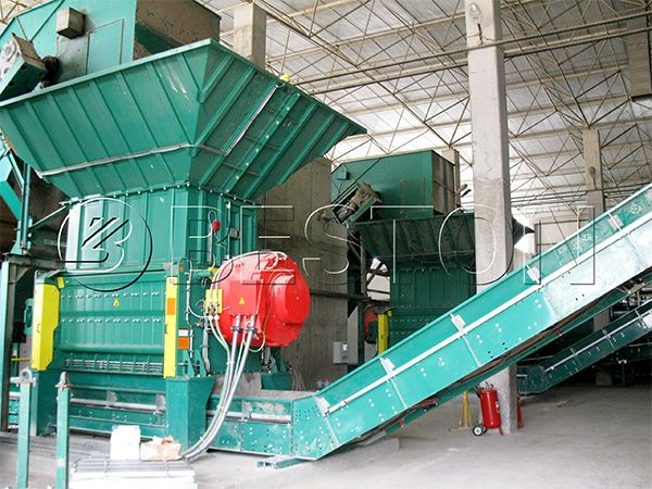 Beston municipal solid waste sorting machine for sale. Email: sales@mswrecyclingplant.com.
