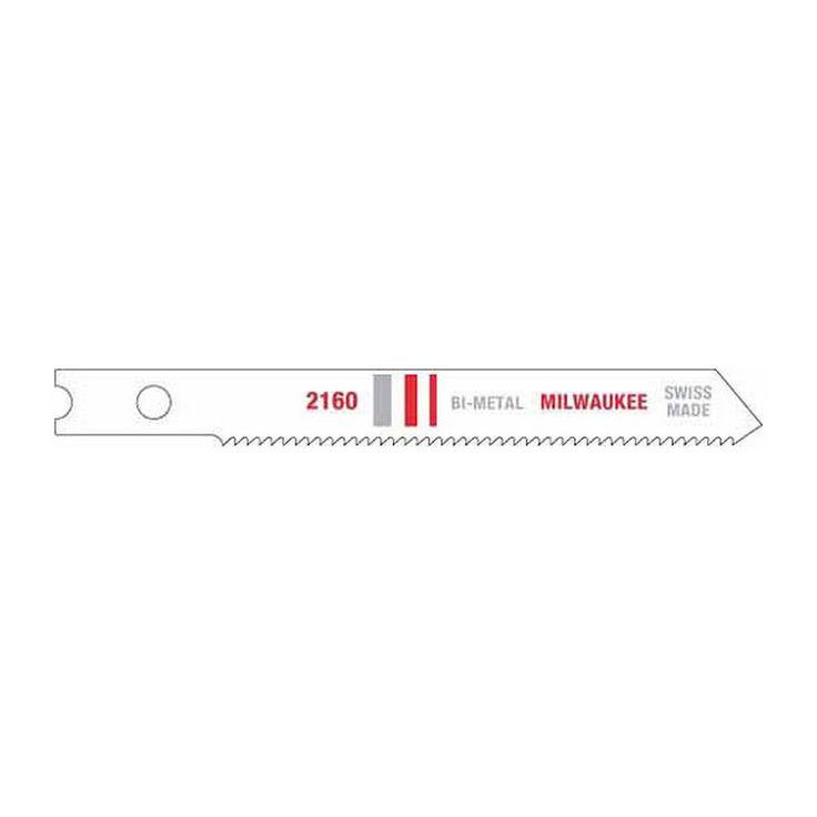 "48-42-2160 Milwaukee Jig Saw Blade Bi-Met 2-3/4"" 24Tpi U-Shank 5 Pcs"