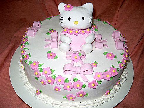 bolo festa infantil hello kitty Bolo de aniversário Hello kitty