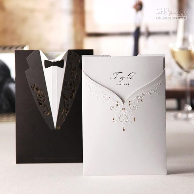 Buy cheap New Arrival Wedding Invitations Wedding Invitation Cards Wedding Supplies Personalized Wedding cards with $1.27-1.37/Piece|DHgate