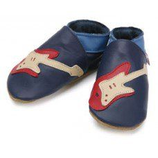 Guitar Navy Soft Leather Baby Shoes Made and supplied by Star Child Shoes in #Leicestershire - £18.00