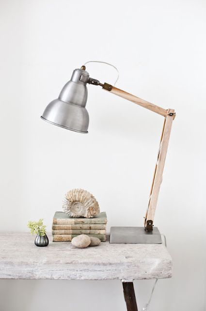 white + woodLights, Table Lamps, House Doctors, Industrial Desk, Bedside Lamps, Tables Lamps, Design, Desks Lamps, Industrial Tables