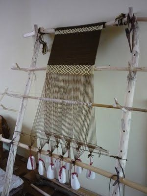 Warp weighted loom.
