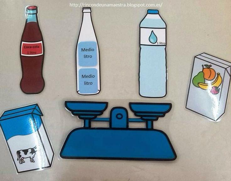 Rincón de una maestra: Litro y medio litro