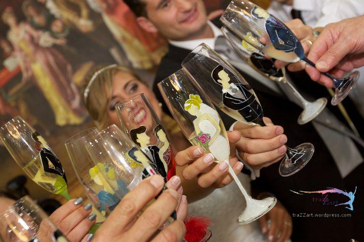 Copas para una boda