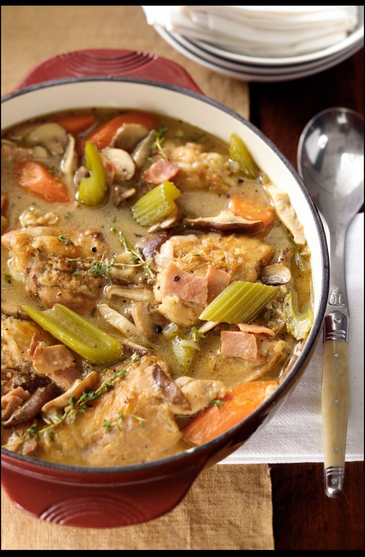... the white wine flavors in this new take on a classic chicken dish
