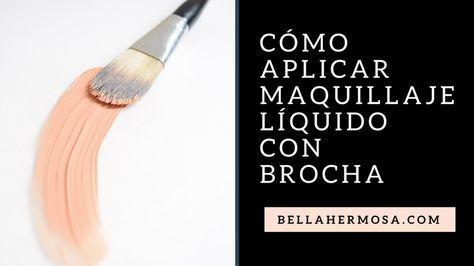 Como-aplicar-maquillaje-liquido-con-brocha-paso-a-paso