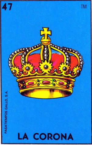 loteria, mexican, crown, la corona - Loteria Mexicana - Mexican Bingo