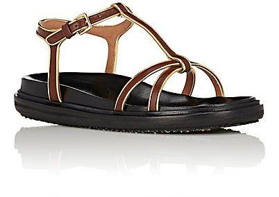 Marni Bi-Color T-Strap Sandals - Sandals - 504396626