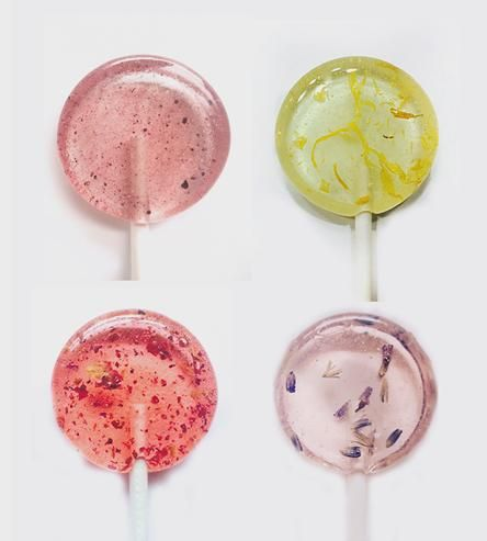 Handmade with freshly ground flowers, sweet flavors, pure cane sugar and filtered water, each of the 20 lollipops in this assortment feels the way a lollipop should — that is to say, like a scrumptious dessert.