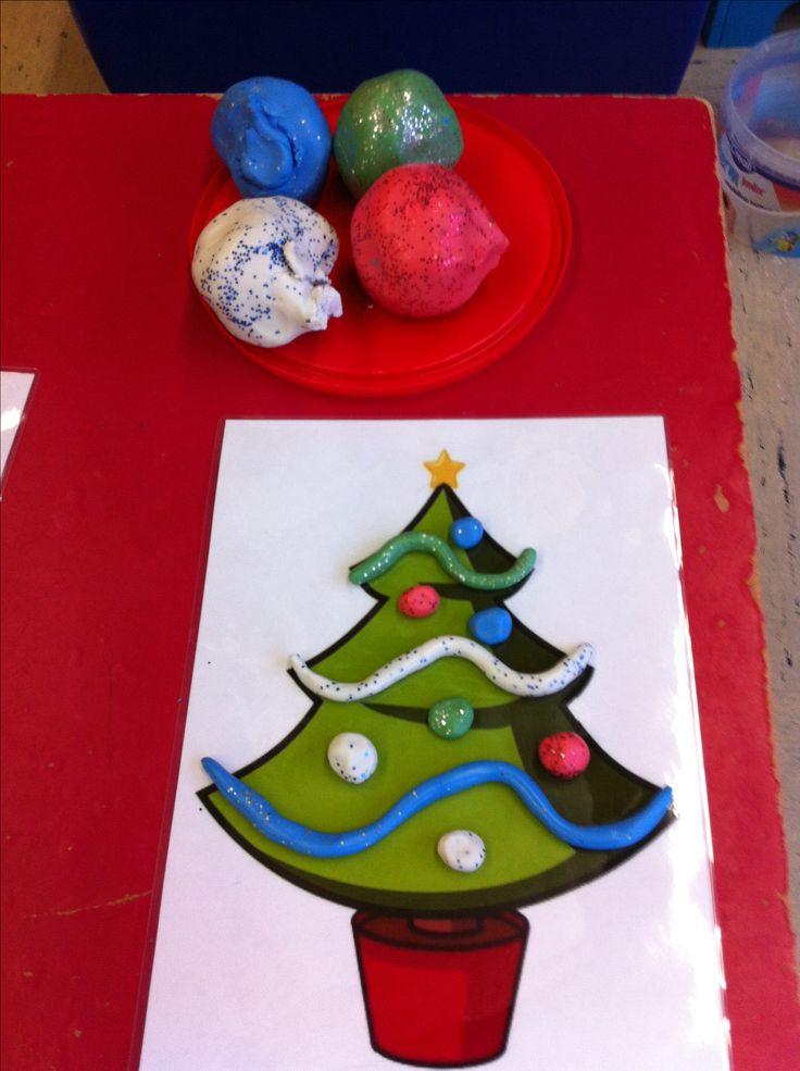 Glitter klei om de kerstboom mee te versieren.