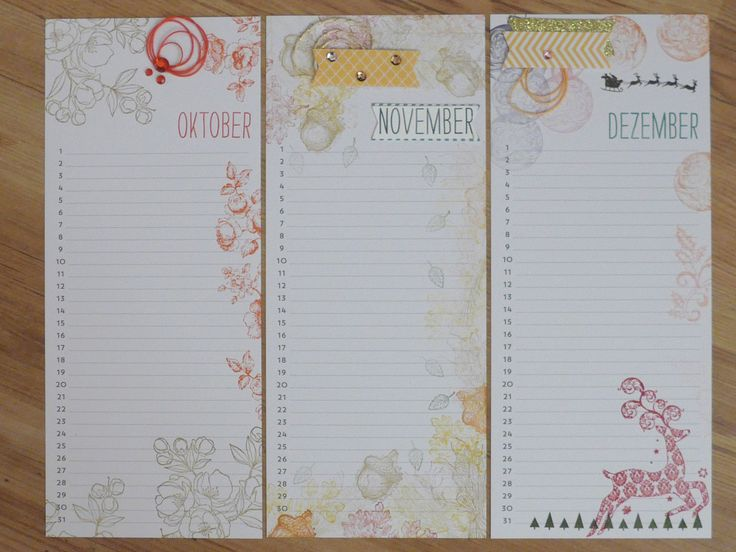Stampin Up Calendar Ideas : Stampin up perpetual birthday calendar project kit