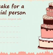 Free cake gift certificate template