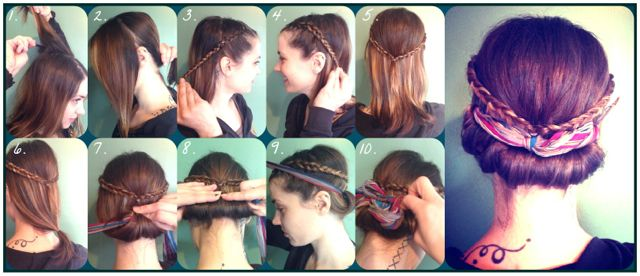 How-To Hair Girl | Roll 'n braids....A modern take on a classic vintage hairstyle.