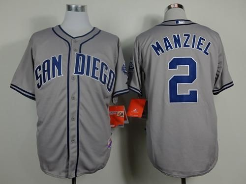 "$23.88 at ""MaryJersey"" (maryjerseyelway@gmail.com) #2 Johnny Manziel - Padres Grey Cool Base Stitched Baseball Jersey"