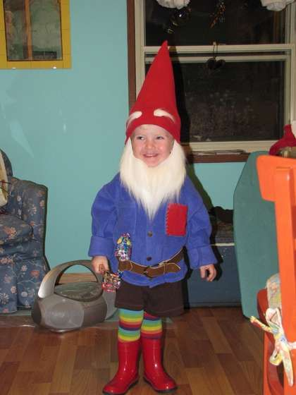 Oliver will be a gnome this year. I must do this before he starts making his own demands.