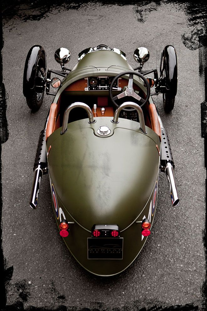 """Morgan, the exception to the 3-wheeler rule! ... but if you really must have a 3-wheeler, the third wheel has to be at the back!  And absolutely NO Del-Boy vans!!  (see """"Un-Cool Rides"""" board for other No-No's)"""