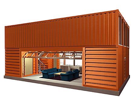 Tron legacy house container loft ideas pinterest recycling home and solar - Shipping container home kit ...