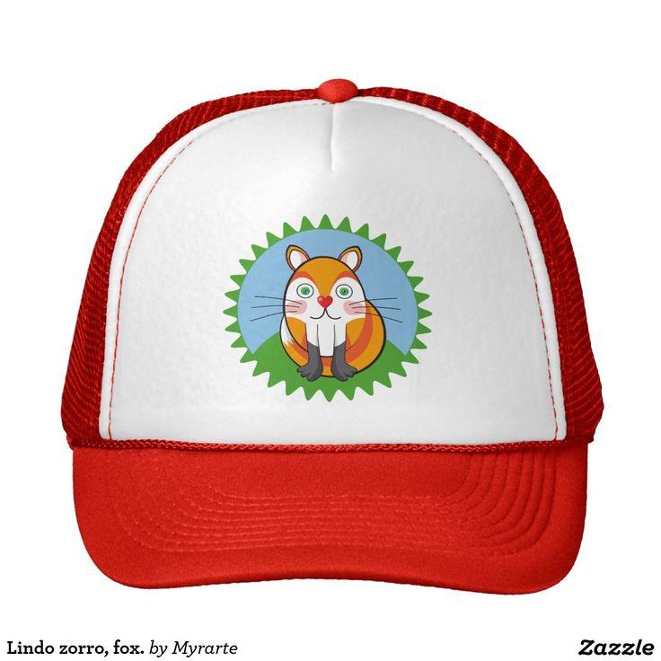 Lindo zorro, fox. Producto disponible en tienda Zazzle. Accesorios, moda. Product available in Zazzle store. Fashion Accessories. Regalos, Gifts. Link to product: http://www.zazzle.com/lindo_zorro_fox_trucker_hat-148646113714428229?CMPN=shareicon&lang=en&social=true&rf=238167879144476949 #gorra #hat #zorro #fox