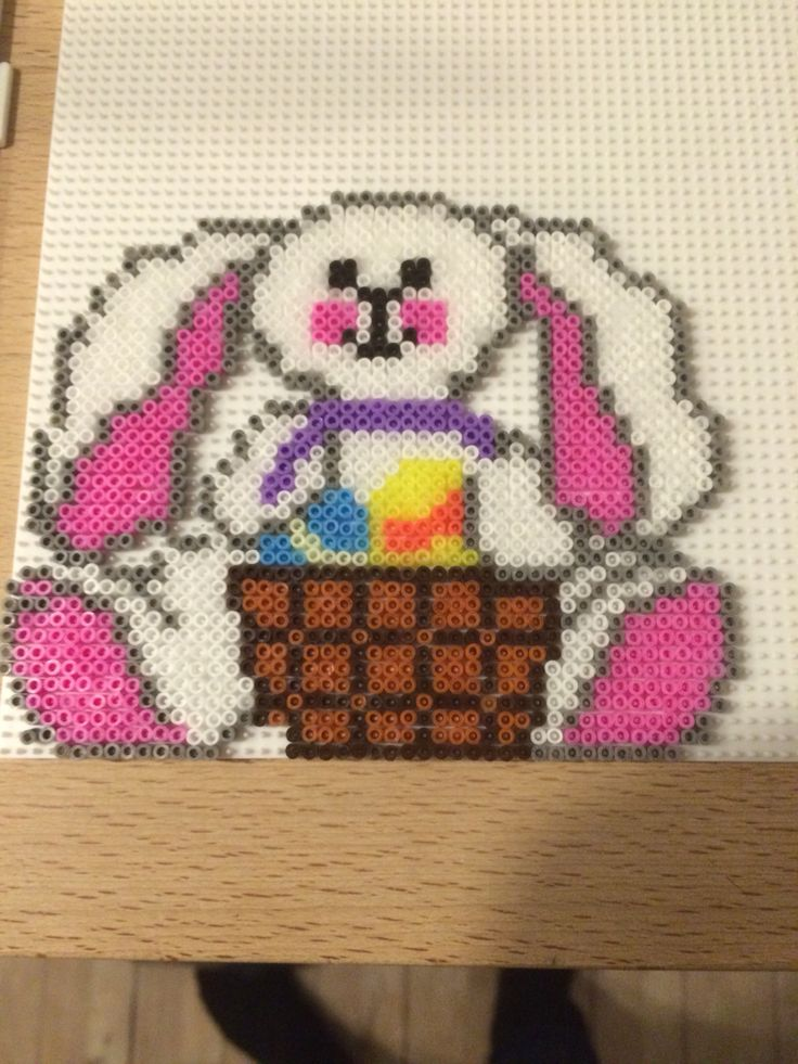 Easter bunny hama mini beads by Julie Loose