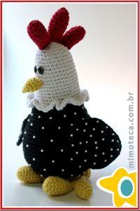 GALINHA D'ANGOLA Mimoteca - emoção em arte Crochet Amigurumi