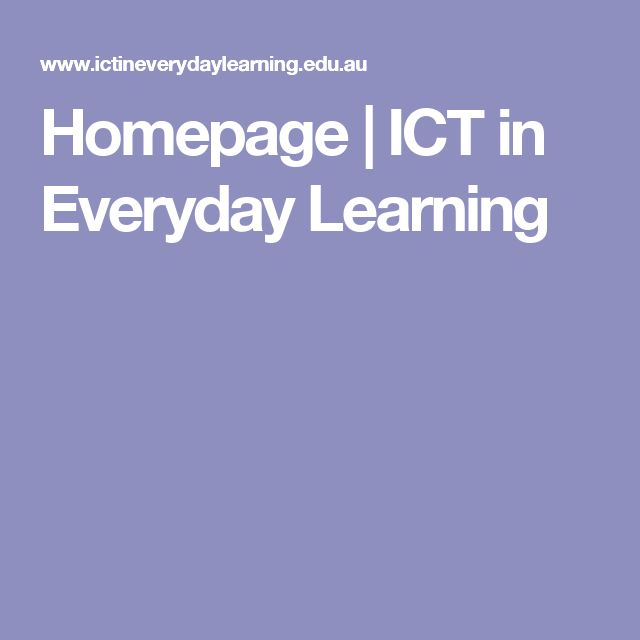 Homepage   ICT in Everyday Learning
