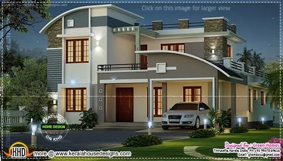 Kerala home design and floor plans: Modern beautiful home