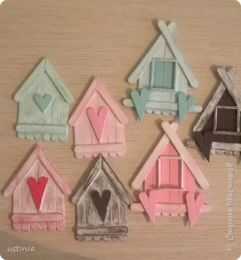 26 cute and easy craft ideas using ice cream stick | PicturesCrafts.com