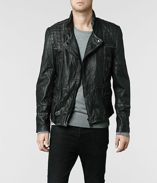Street style tendance : AllSaints Cargo Leather Biker Jacket | Mens Leather Jackets